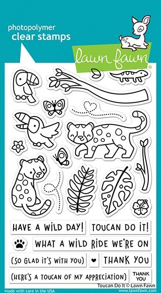 Lawn Fawn TOUCAN DO IT Clear Stamps lf2603 zoom image