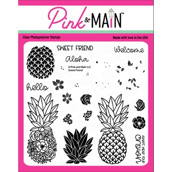 Pink and Main SWEET FRIEND Clear Stamps PM0467