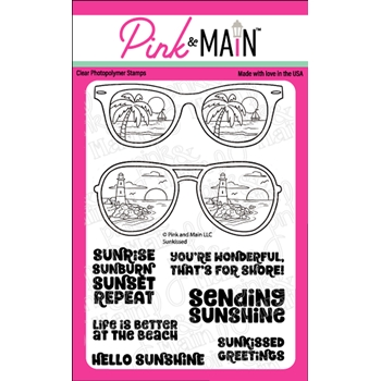 Pink and Main SUNKISSED Clear Stamps PM0465