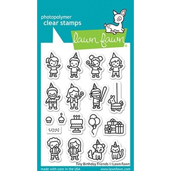 Lawn Fawn TINY BIRTHDAY FRIENDS Clear Stamps lf2601