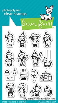 Lawn Fawn TINY BIRTHDAY FRIENDS Clear Stamps lf2601 zoom image