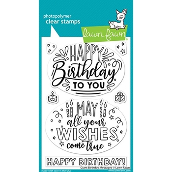 Lawn Fawn GIANT BIRTHDAY MESSAGES Clear Stamps lf2599