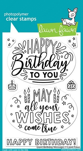 Lawn Fawn GIANT BIRTHDAY MESSAGES Clear Stamps lf2599 zoom image