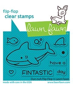 Lawn Fawn DUH-NUH FLIP FLOP Clear Stamps lf2597