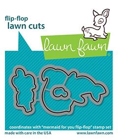 Lawn Fawn MERMAID FOR YOU FLIP-FLOPS Die Cuts lf2596 Preview Image