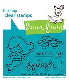Lawn Fawn MERMAID FOR YOU FLIP-FLOPS Clear Stamps lf2595 zoom image