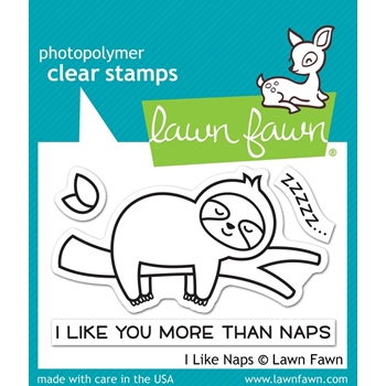 Lawn Fawn I LIKE NAPS Clear Stamps lf2163