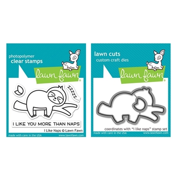 Lawn Fawn SET I LIKE NAPS Clear Stamps and Dies lfiln