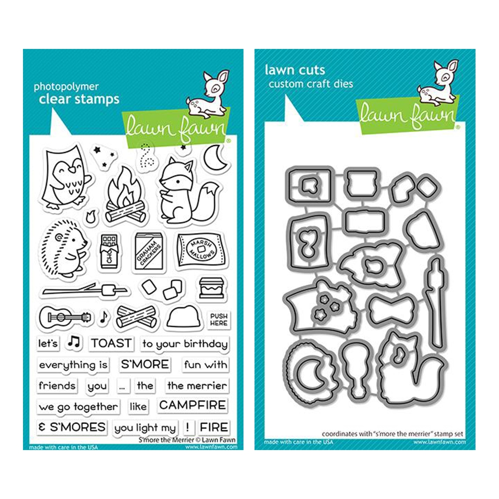 Lawn Fawn SET S'MORE THE MERRIER Clear Stamps and Dies lfstm zoom image