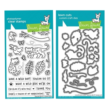 Lawn Fawn SET TOUCAN DO IT Clear Stamps and Dies lftdi