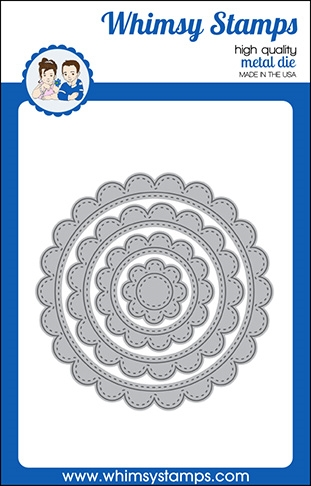 Whimsy Stamps SCALLOP CIRCLE FRAME Dies WSD549 zoom image