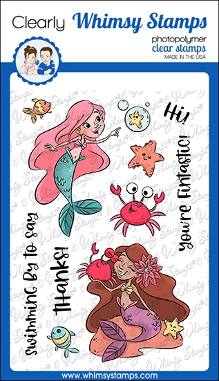 Whimsy Stamps FINTASTIC Clear Stamps KHB129a zoom image