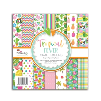 Polkadoodles TROPICAL FEVER 6x6 Paper Pack pd8193