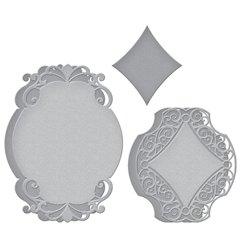 S6-174 Spellbinders ROMANTIC CHARGEOUR Etched Dies