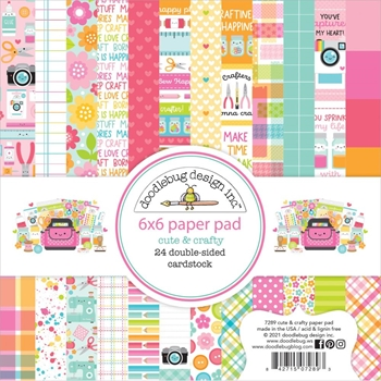 Doodlebug CUTE AND CRAFTY 6x6 Inch Paper Pad 7289
