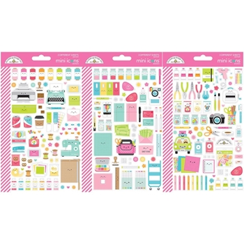Doodlebug CUTE AND CRAFTY Mini Icons Stickers 7262