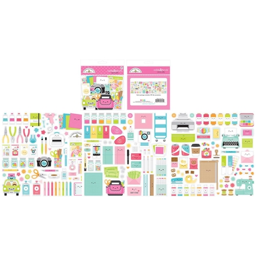 Doodlebug CUTE AND CRAFTY ODDS ENDS Ephemera Die Cut Shapes 7272 Preview Image