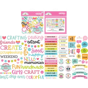 Doodlebug CUTE AND CRAFTY CHIT CHAT Die Cut Pieces Ephemera 7273