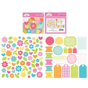 Doodlebug CUTE AND CRAFTY BITS PIECES Odds Ends Die Cut Shapes 7404