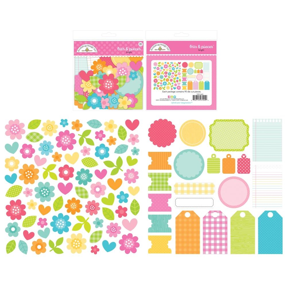 Doodlebug CUTE AND CRAFTY BITS PIECES Odds Ends Die Cut Shapes 7404 zoom image