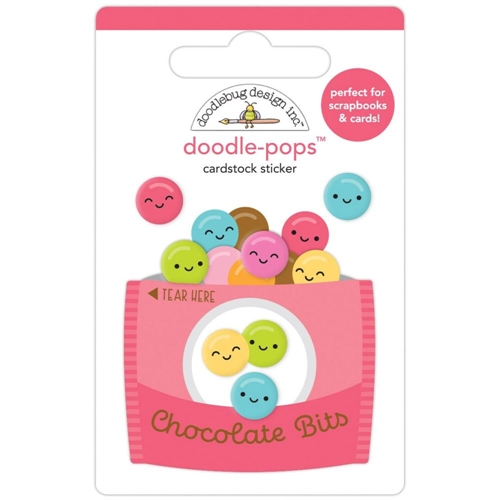 Doodlebug CHOCOLATE BITS Doodle Pops 3D Stickers 7256 Preview Image
