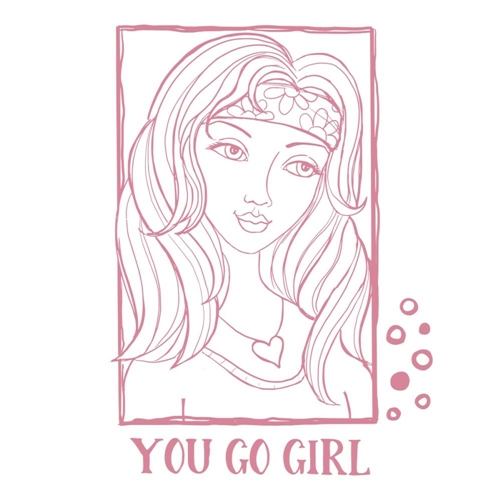 Couture Creations YOU GO GIRL PORTRAIT Clear Stamp Set co728363 Preview Image