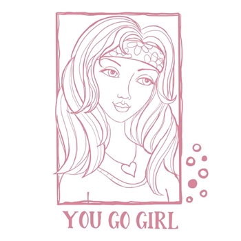 Couture Creations YOU GO GIRL PORTRAIT Clear Stamp Set co728363