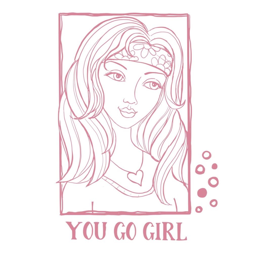 Couture Creations YOU GO GIRL PORTRAIT Clear Stamp Set co728363 zoom image