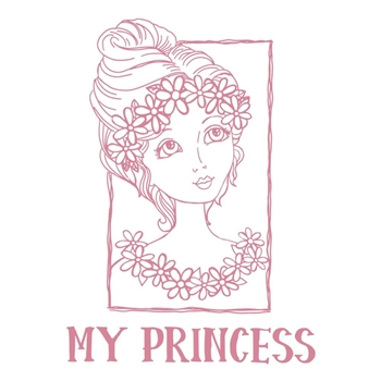 Couture Creations MY PRINCESS PORTRAIT Clear Stamp Set co728364