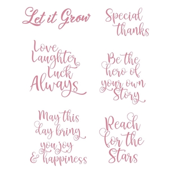 Couture Creations YOU GO GIRL SENTIMENTS Clear Stamp Set co728368