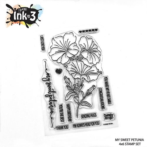 Inkon3 MY SWEET PETUNIA Clear Stamps 04098 Preview Image