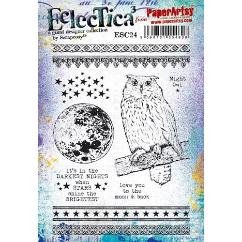 Paper Artsy ECLECTICA3 SCRAPCOSY Cling Stamps esc24 Preview Image