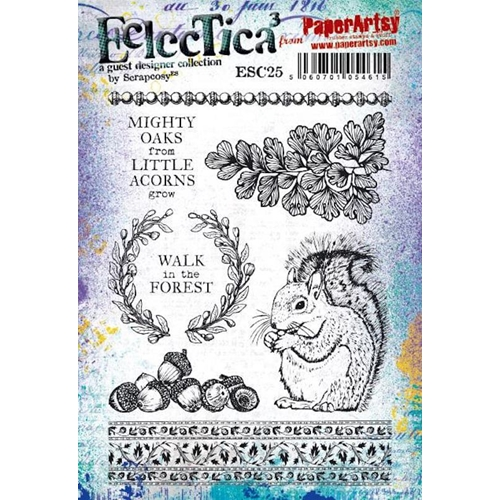 Paper Artsy ECLECTICA3 SCRAPCOSY Cling Stamps esc25 Preview Image