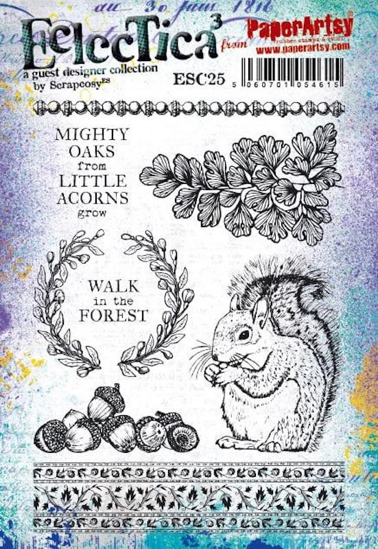Paper Artsy ECLECTICA3 SCRAPCOSY Cling Stamps esc25 zoom image