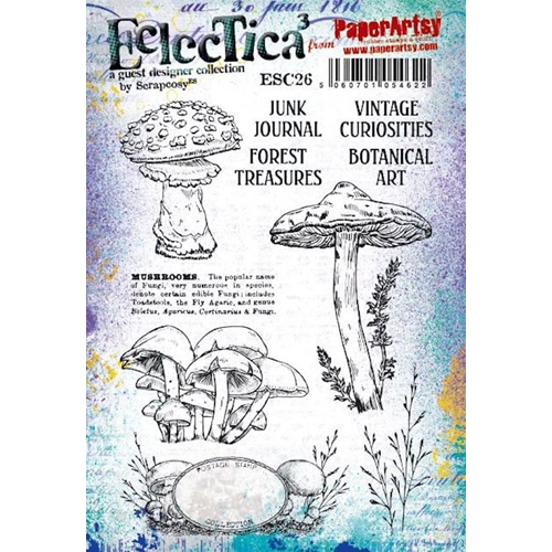 Paper Artsy ECLECTICA3 SCRAPCOSY Cling Stamps esc26 Preview Image