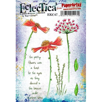 Paper Artsy ECLECTICA3 Kay Carley 47 Cling Stamp ekc47