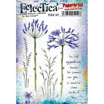 Paper Artsy ECLECTICA3 Kay Carley 49 Cling Stamp ekc49
