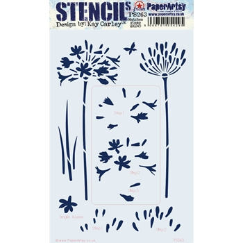 Paper Artsy ECLECTICA3 KAY CARLEY Large Stencil ps263
