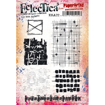 Paper Artsy SETH APTER 22 ECLECTICA3 Cling Stamp esa22