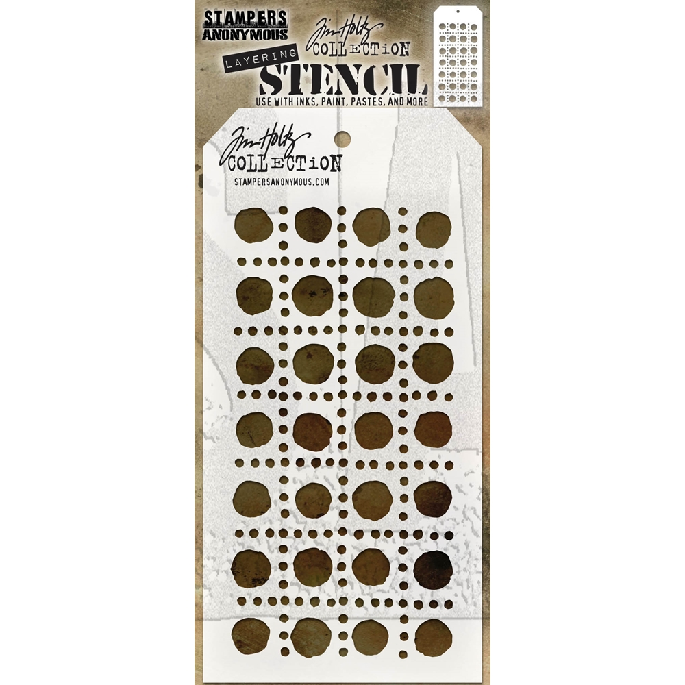 Tim Holtz Layering Stencil DOTTED LINE THS155 zoom image