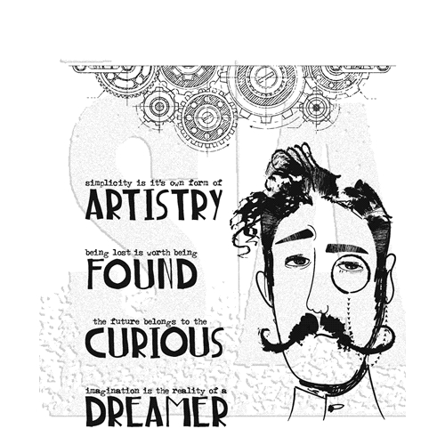 Tim Holtz Cling Rubber Stamps OBSERVATIONS CMS434 Preview Image