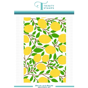 Trinity Stamps LEMON AND LEAVES Stencil Set tss039