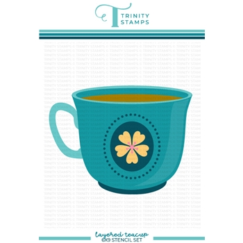 Trinity Stamps LAYERED TEACUP Stencil Set tss040