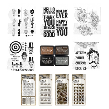 RESERVE Tim Holtz I WANT IT ALL Stamps Stencils Summer 2021 FREE INK ranger139