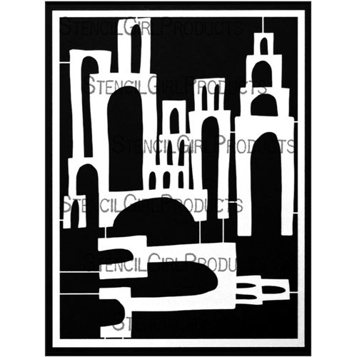StencilGirl TOWERS OF ARCHES Stencil Set l859 Preview Image