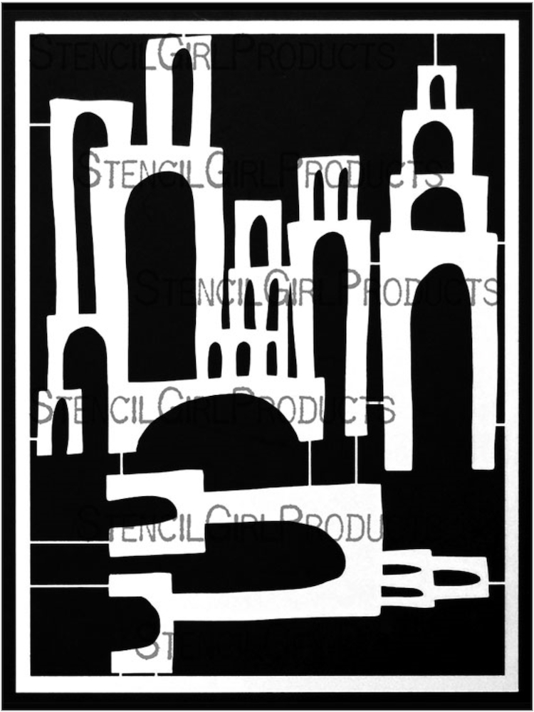 StencilGirl TOWERS OF ARCHES Stencil Set l859 zoom image