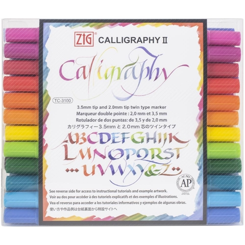 Zig Memory System 24 COLORS Calligraphy Dual-Tip Markers tc310024v Preview Image