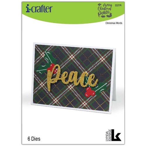 i-Crafter CHRISTMAS WORDS Dies 222174 Preview Image