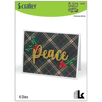 i-Crafter CHRISTMAS WORDS Dies 222174