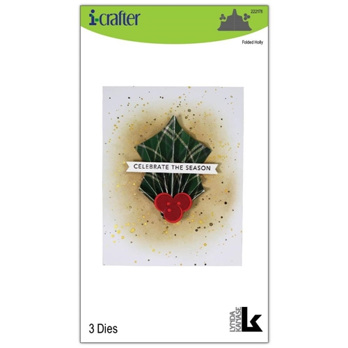i-Crafter FOLDED HOLLY Dies 222178 Preview Image